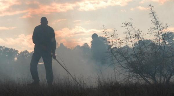 пожар близ Бпанско
