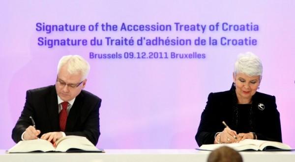 Хърватия подписа договора за присъединяване към ЕС