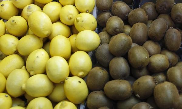 киви и лимони