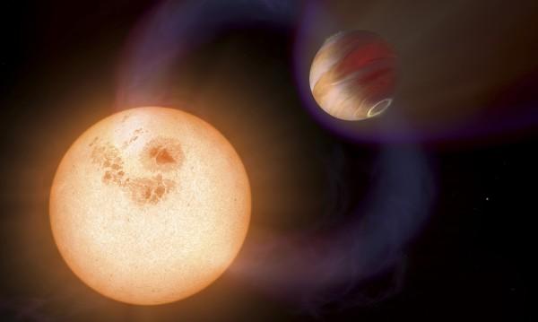 Атмосфера около екзопланета с размерите на Земята