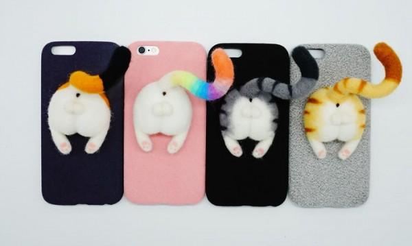 Коте, панда, куче... Поглед отзад върху кейс за телефон