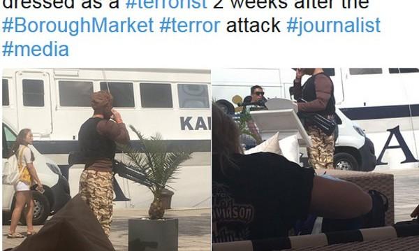 Британец, облечен като терорист, вся паника на хърватски остров