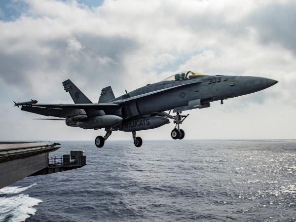 Свалянето на сирийски бомбардировач Су-22 от силите на коалицията начело