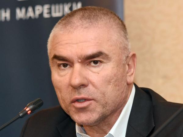"""Лидерът на """"Воля"""" Веселин Марешки и депутатката му Кръстина Таскова"""