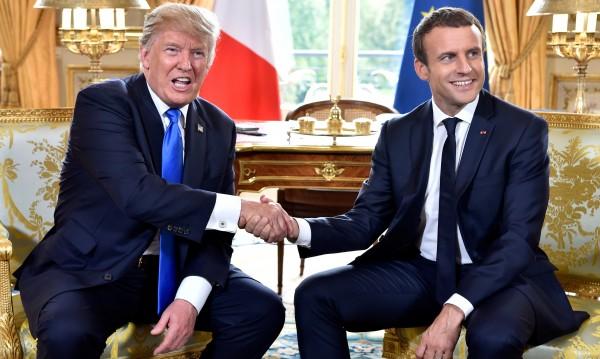 """Макрон иска да върне Доналд Тръмп """"в групата"""", подава му ръка"""