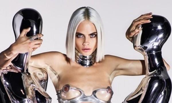 Футуристично бъдеще: Кара Делевин като робот