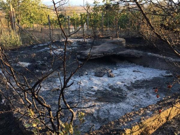"""Загасен е пожарът във вилна зона """"Воден камък"""" над Хисаря,"""
