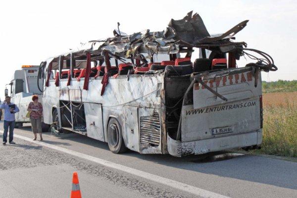 авария автобуса в Болгарии