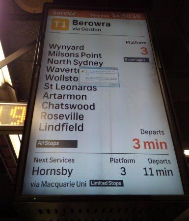 Бъгна се Windows-а на метрото в Сидни
